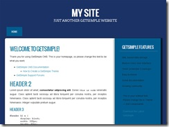 Сайт визитка шаблон