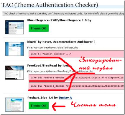 Плагин TAC для поиска вредоносного кода