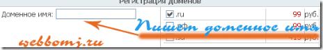 регистрация домена выбор