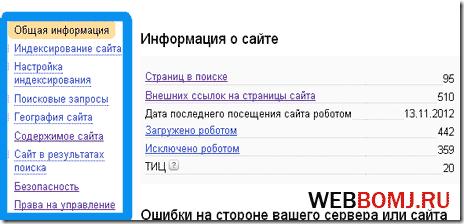 яндекс web мастер основы